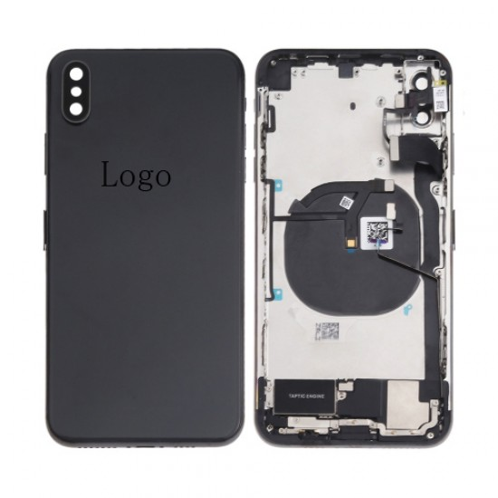 For iPhone Xs Max Rear Housing with Small Parts Assembly Black