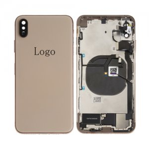 For iPhone Xs Max Rear Housing with Small Parts Assembly Gold