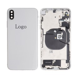 For iPhone Xs Max Rear Housing with Small Parts Assembly White