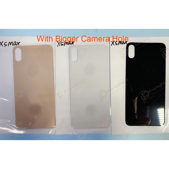 For iPhone XS Max Back Glass with Bigger Camera Hole