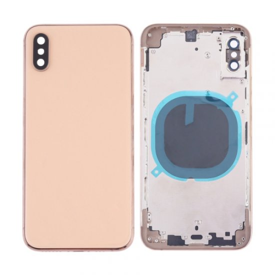 For iPhone Xs Battery Cover Back Housing Gold