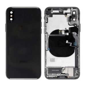 For iPhone Xs Battery Cover with Small Parts Black