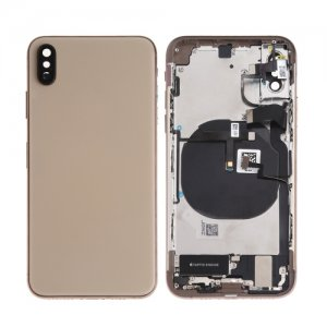 For iPhone Xs Battery Cover with Small Parts Gold