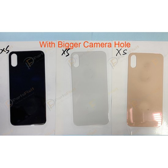For iPhone XS Back Glass with Bigger Camera Hole