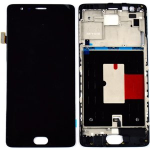 OnePlus 3 3T LCD Screen Replacement With Frame Black OEM