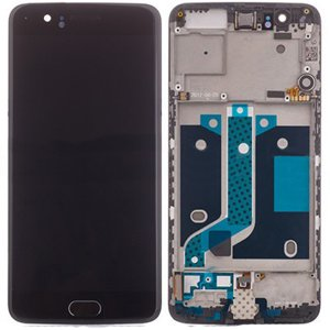 OnePlus 5 LCD Screen Replacement With Frame Black OEM