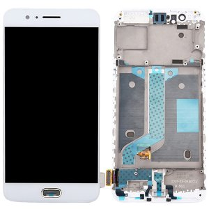 OnePlus 5 LCD Screen Replacement With Frame White OEM