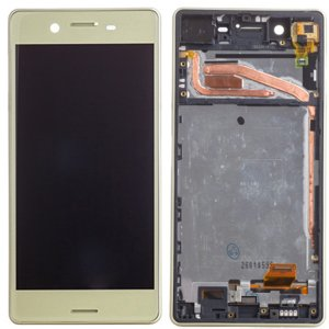 Sony Xperia X LCD Screen Replacement With Frame Gold OEM