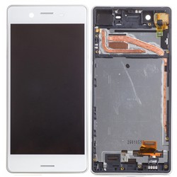 Sony Xperia X LCD Screen Replacement With Frame White OEM