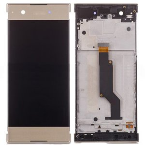 Sony Xperia XA1 LCD Screen Replacement With Frame Gold OEM