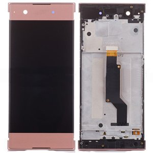 Sony Xperia XA1 LCD Screen Replacement With Frame Pink OEM