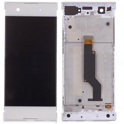 Sony Xperia XA1 LCD Screen Replacement With Frame White OEM