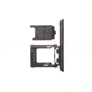 Sony Xperia XZ Premium Dual SIM Card Tray With SIM Cover Flap Black (Dual Card Version)