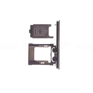 Sony Xperia XZ Premium Dual SIM Card Tray With SIM Cover Flap White (Dual Card Version)