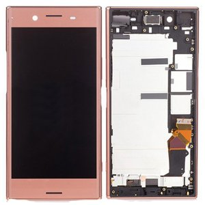 Sony Xperia XZ Premium LCD Screen Replacement With Frame Pink Ori