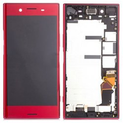 Sony Xperia XZ Premium LCD Screen Replacement With Frame Red Ori