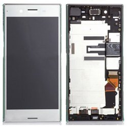 Sony Xperia XZ Premium LCD Screen Replacement With Frame Silver Ori
