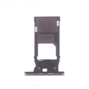 Sony Xperia XZ2 SIM SD Card Tray Silver Ori (Single Card Version)