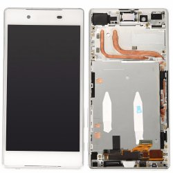 Sony Xperia Z5 LCD Screen Replacement With Frame White OEM Dual Card Version