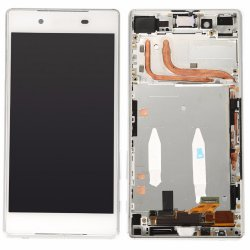 Sony Xperia Z5 LCD Screen Replacement With Frame White OEM Single Card Version