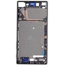 Sony Xperia Z5 Premium Front Housing Silver Ori (Dual Card Version)
