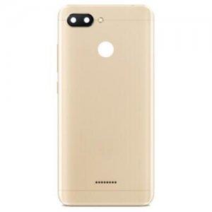 Xiaomi Redmi 6 Battery Door Gold Ori Dual Card Version