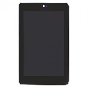 LCD Screen with Frame  for Asus Google Nexus 7 Silver