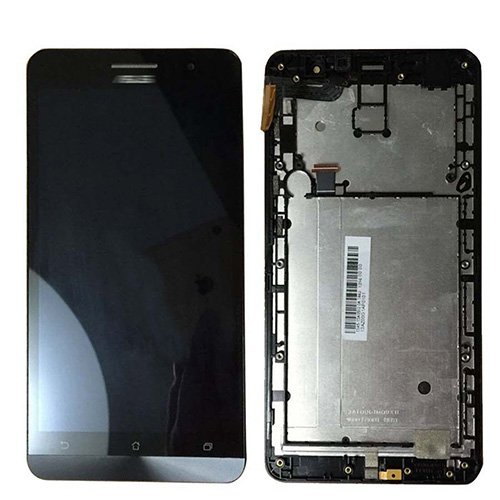 LCD and Touch Screen Assembly with Frame for Asus ZenFone 6 A600CG/A601CG Black