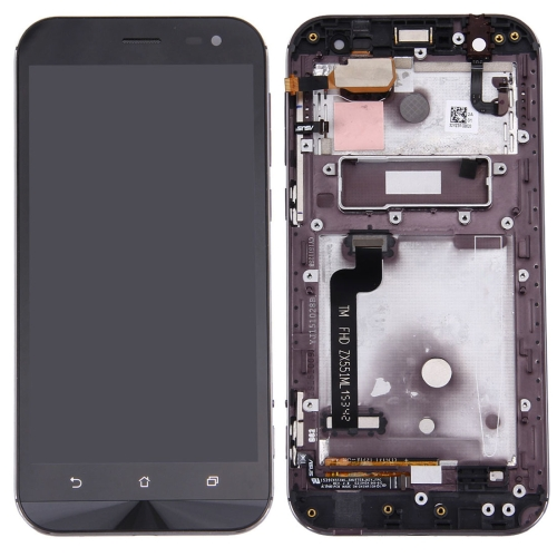 LCD  with Frame for  Asus Zenfone Zoom ZX551ML Bla...