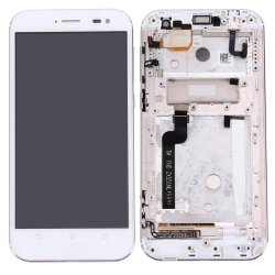 LCD  with Frame for  Asus Zenfone Zoom ZX551ML White