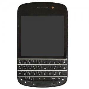 Screen Replacement with Middle Frame for BlackBerry Q10 Black