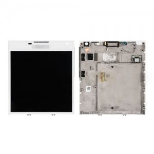 Screen Replacement With Frame for Blackberry Passport Q30 White