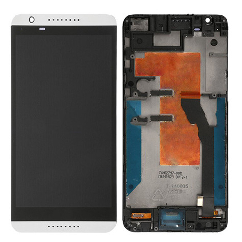LCD Screen with Frame for HTC Desire 820 White