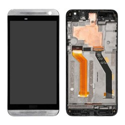 LCD with Digitizer Touch Screen With Frame for HTC One E9 Silver Original