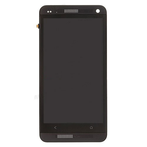 LCD Touch Screen Digitizer Assembly With Frame for HTC One M7 801e Black