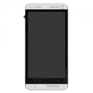 LCD Touch Screen Digitizer Assembly With Frame for HTC One M7 801e White