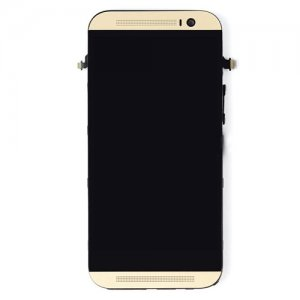 LCD with Frame for HTC One M8 Gold