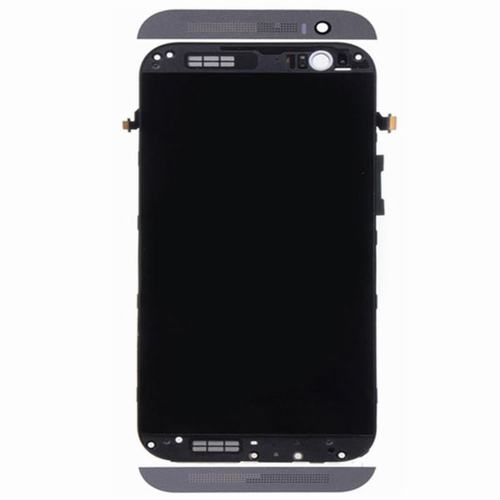 LCD with Frame for HTC One M8 Gray