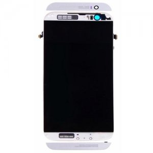 LCD with Frame for HTC One M8 White