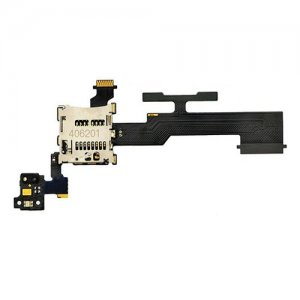 SD Card and Sim Card Reader with Button Flex Cable for HTC One M8