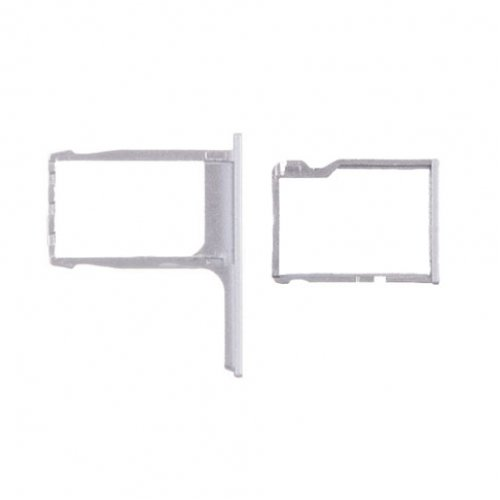 SD Card and Sim Card Tray for HTC One M8 Silver