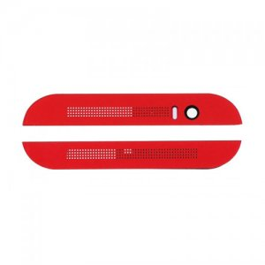 Top and Bottom Cover for HTC One M8 Red