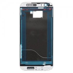 Front Frame for HTC One M8 Silver