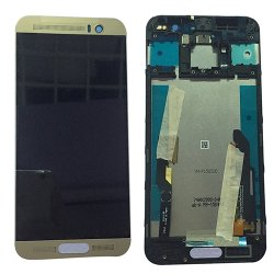 LCD and Digitizer Touch Screen With Frame for HTC M9 Plus  Gold