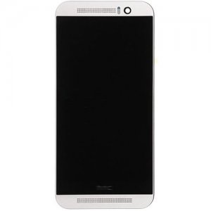 LCD Screen with Frame for HTC One M9 Silver Aftermarket
