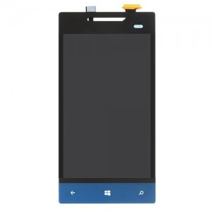 LCD and Touch Screen Digitizer Assembly Replacement for HTC 8S A620 Blue