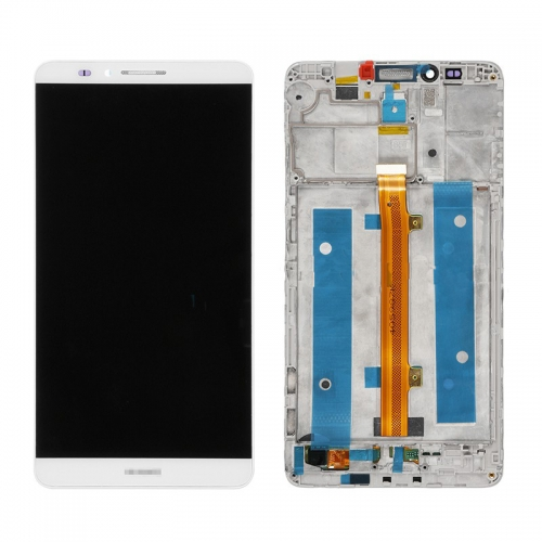 LCD with Frame for Huawei Ascend Mate 7 White