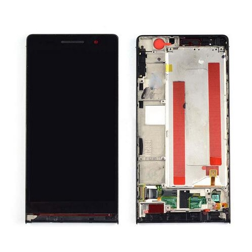 LCD with Frame for Huawei Ascend P6 Black