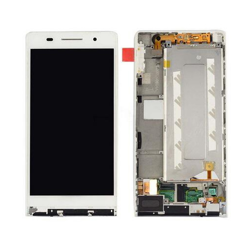 LCD with Frame for Huawei Ascend P6 White