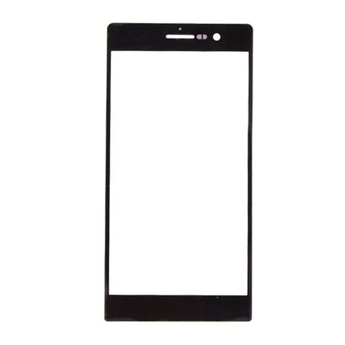 For Huawei Ascend P7 Front Glass Lens Black